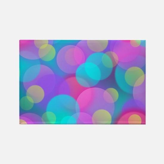 Colorful Bokeh Pattern Magnets