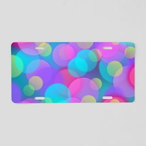 Colorful Bokeh Pattern Aluminum License Plate