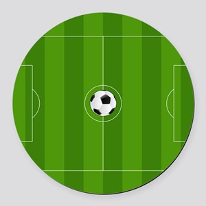 Football Field Round Car Magnet