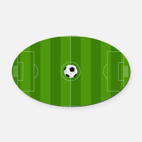 Football Field Oval Car Magnet