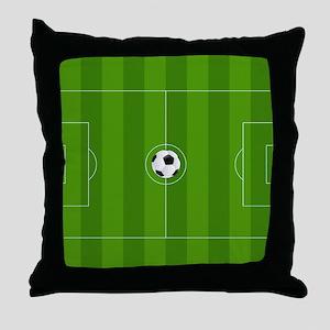 Football Field Throw Pillow