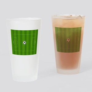 Football Field Drinking Glass