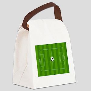 Football Field Canvas Lunch Bag