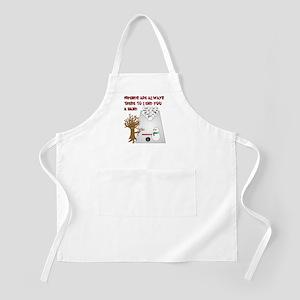 Snowman Bowl BBQ Apron