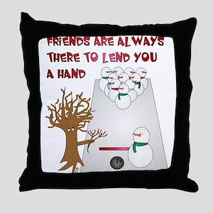 Snowman Bowl Throw Pillow