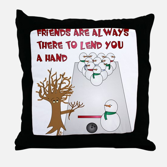 Snowman Bowl Throw Pillow