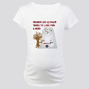 Snowman Bowl Maternity T-Shirt