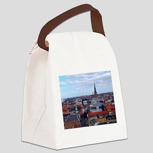 Copenhagen Skyline Canvas Lunch Bag
