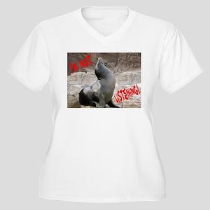 Not listening sea lion Women's Plus Size V-Neck T-