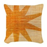 Sunburst Woven Throw Pillow