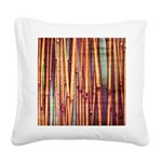Reeds Square Canvas Pillow
