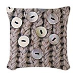 Oatmeal Knit Woven Throw Pillow