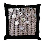 Oatmeal Knit Throw Pillow