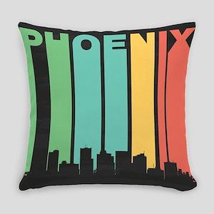 Vintage Phoenix Cityscape Everyday Pillow