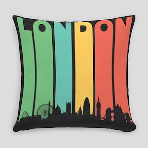 Vintage London Cityscape Everyday Pillow