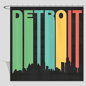 Vintage Detroit Cityscape Shower Curtain