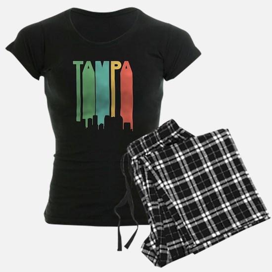 Vintage Tampa Cityscape Pajamas