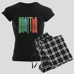 Vintage Seattle Cityscape Pajamas