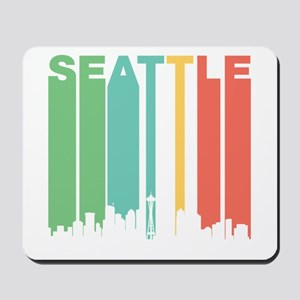 Vintage Seattle Cityscape Mousepad