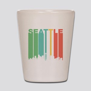 Vintage Seattle Cityscape Shot Glass