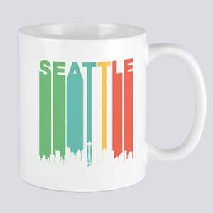 Vintage Seattle Cityscape Mugs