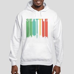 Vintage Seattle Cityscape Hoodie