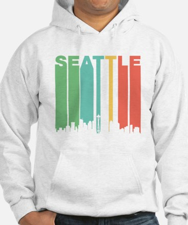 Vintage Seattle Cityscape Hoodie