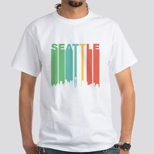 Vintage Seattle Cityscape T-Shirt