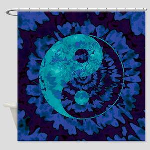 Purple Yin Yang Art Shower Curtain