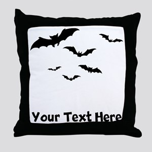 Bats Flying (Custom) Throw Pillow