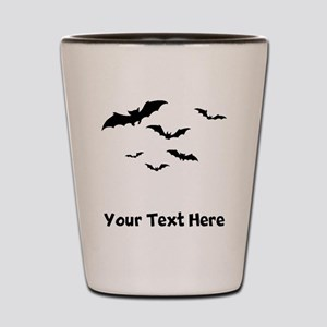 Bats Flying (Custom) Shot Glass