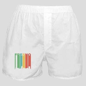 Vintage Fresno Cityscape Boxer Shorts