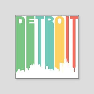 Vintage Detroit Cityscape Sticker