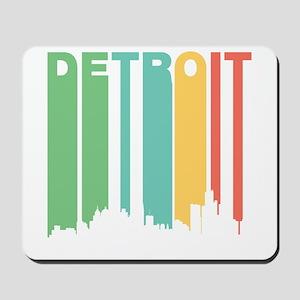 Vintage Detroit Cityscape Mousepad