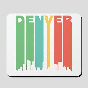 Vintage Denver Cityscape Mousepad