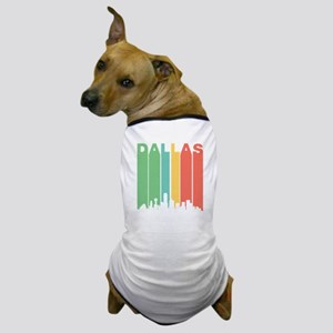Vintage Dallas Cityscape Dog T-Shirt