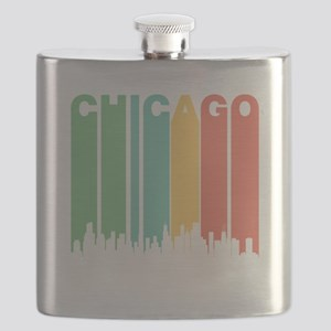 Vintage Chicago Cityscape Flask
