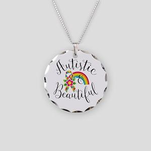 Autistic Necklace Circle Charm