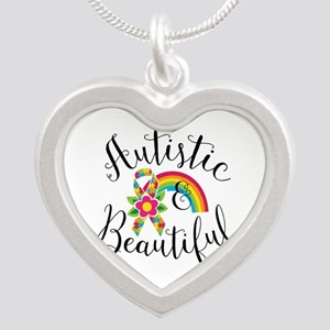 Autistic Silver Heart Necklace