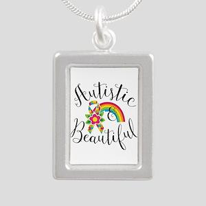 Autistic Silver Portrait Necklace