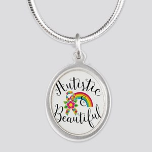 Autistic Silver Oval Necklace