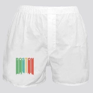Vintage Boston Cityscape Boxer Shorts