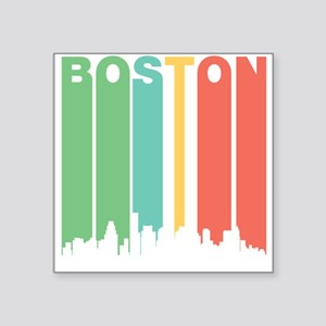 Vintage Boston Cityscape Sticker