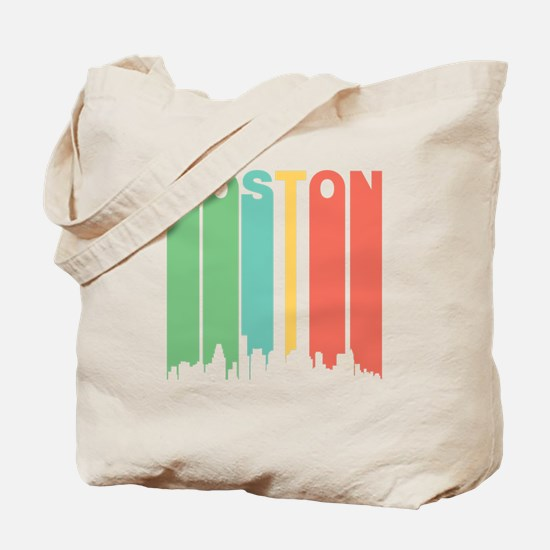 Vintage Boston Cityscape Tote Bag