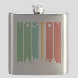 Vintage Boston Cityscape Flask