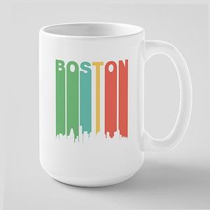 Vintage Boston Cityscape Mugs