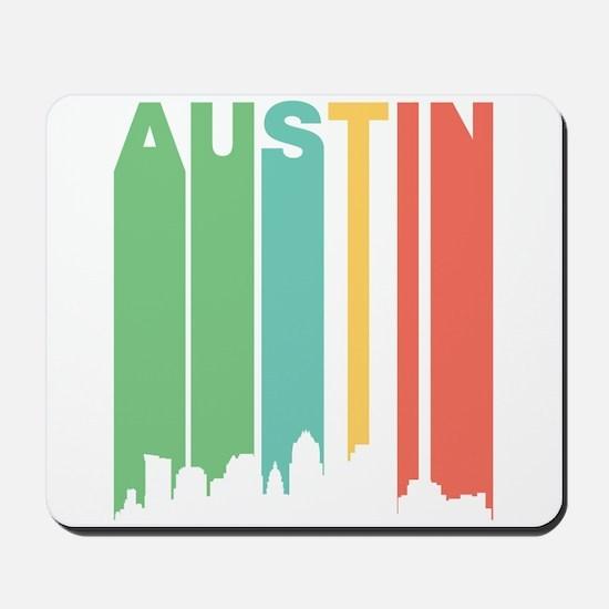 Vintage Austin Cityscape Mousepad