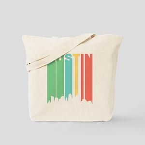 Vintage Austin Cityscape Tote Bag
