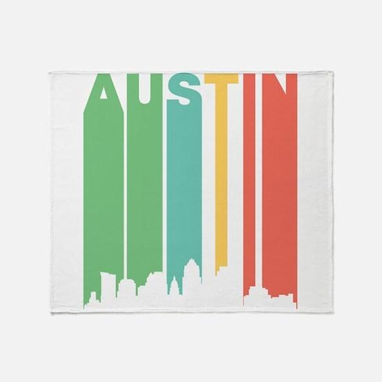 Vintage Austin Cityscape Throw Blanket