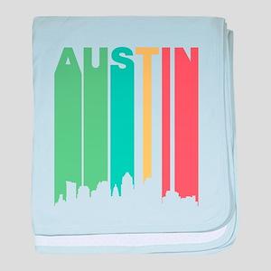 Vintage Austin Cityscape baby blanket